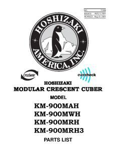 KM-900MAH KM-900MWH KM-900MRH KM-900MRH3