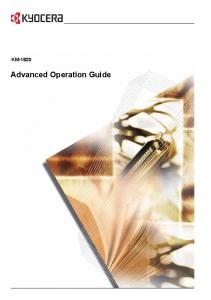 KM Advanced Operation Guide