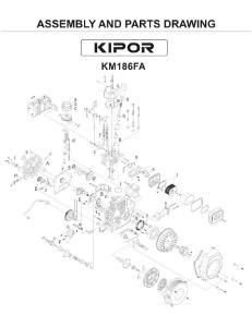 KM186F-C Diesel Engine Parts Listing