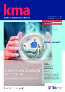 kma Klinik Management aktuell