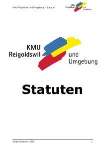 KMU Reigoldswil und Umgebung Statuten. Statuten. Vereinsstatuten: