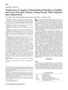 KNEE JOINT OSTEOARTHRITIS and related knee replacement