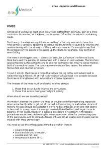 KNEE. Knee - Injuries and ilnesses