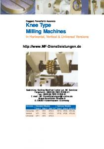 Knee Type Milling Machines