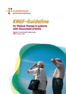 KNGF-Guideline for Physical Therapy in patients with rheumatoid arthritis