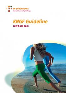 KNGF Guideline Low back pain