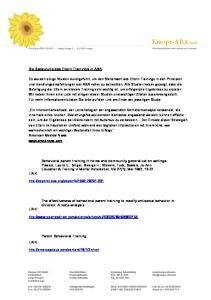 Knospe-ABA GmbH. Die Bedeutung des Eltern-Trainings in ABA