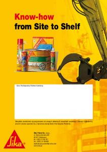 Know-how from Site to Shelf