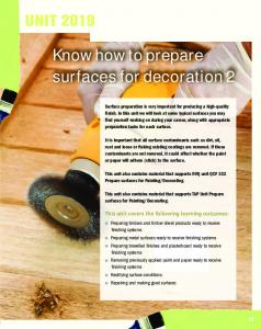 Know how to prepare surfaces for decoration 2