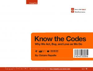 Know the Codes Why We Act, Buy, and Love as We Do