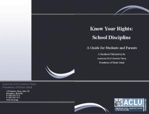 Know Your Rights: School Discipline