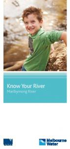 Know Your River. Maribyrnong River