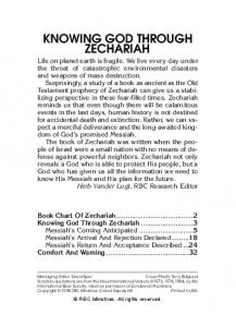 KNOWING GOD THROUGH ZECHARIAH