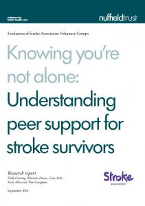 Knowing you re not alone: Understanding peer support for stroke survivors