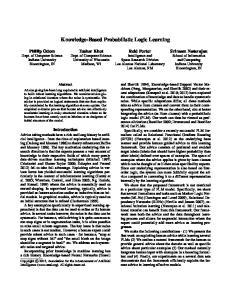 Knowledge-Based Probabilistic Logic Learning