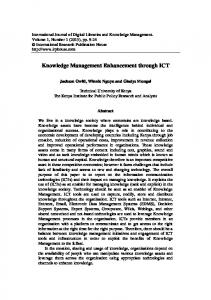 Knowledge Management Enhancement through ICT