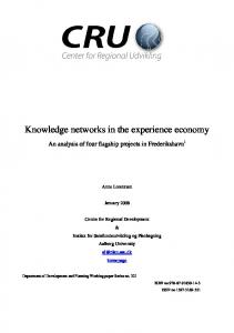 Knowledge networks in the experience economy