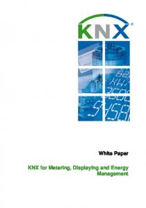 KNX for Metering, Displaying and Energy Management