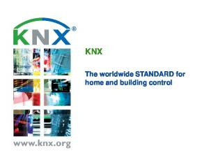 KNX. home and building control
