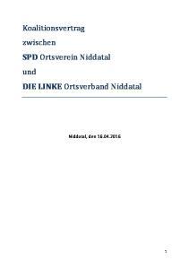 Koalitionsvertrag zwischen SPD Ortsverein Niddatal und DIE LINKE Ortsverband Niddatal