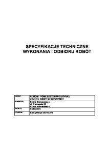 kod CPV nr specyfikacji Nazwa specyfikacji