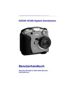 KODAK DC290 Digitale Zoomkamera. Benutzerhandbuch. Besuchen Sie Kodak im World Wide Web unter