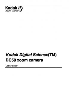 Kodak Digital Science(TM) DC50 zoom camera