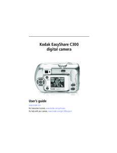 Kodak EasyShare C300 digital camera User s guide