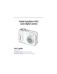 Kodak EasyShare C433 zoom digital camera User s guide