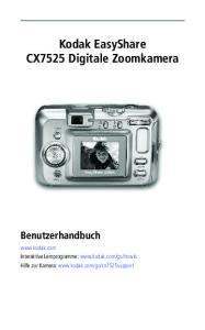 Kodak EasyShare CX7525 Digitale Zoomkamera Benutzerhandbuch