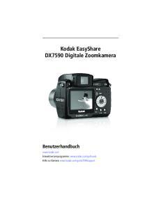 Kodak EasyShare DX7590 Digitale Zoomkamera Benutzerhandbuch