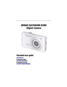 KODAK EASYSHARE M380 Digital Camera Extended user guide