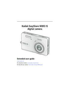 Kodak EasyShare M893 IS digital camera Extended user guide