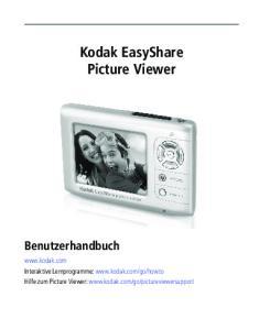 Kodak EasyShare Picture Viewer Benutzerhandbuch