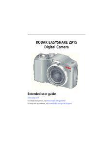 KODAK EASYSHARE Z915 Digital Camera Extended user guide