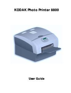 KODAK Photo Printer 8800