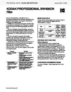 KODAK PROFESSIONAL BW400CN Film