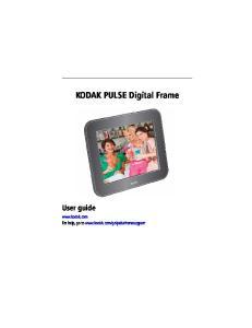 KODAK PULSE Digital Frame User guide