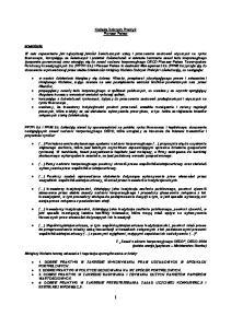 Kodeks Dobrych Praktyk Pioneer Pekao