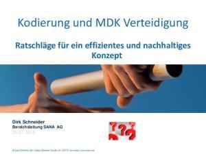 Kodierung und MDK Verteidigung