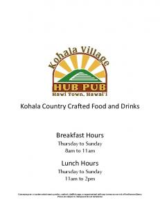 Kohala Country Crafted Food and Drinks