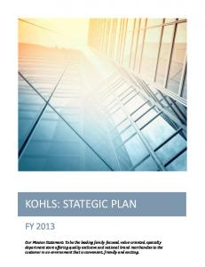 KOHLS: STATEGIC PLAN