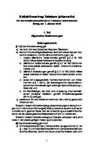 Kollektivvertrag Telekom (alternativ)