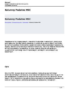 Kolumny Podatne MSC. Kolumny Podatne MSC. Opis
