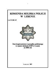 KOMENDA MIEJSKA POLICJI W LESZNIE