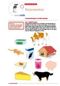Kommentar. Unterrichtseinstiege in die Milch-Werkstatt