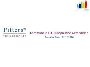 Kommunale EU- Europäische Gemeinden. Pressekonferenz