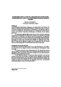 KOMMUNIKATION ALS MITTEL DER KONFLIKTAUSTRAGUNG IM MONODRAMA VON LYDIA SCHEUERMANN HODAK MARIJAS BILDER