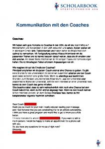 Kommunikation mit den Coaches