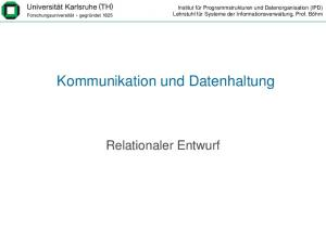 Kommunikation und Datenhaltung